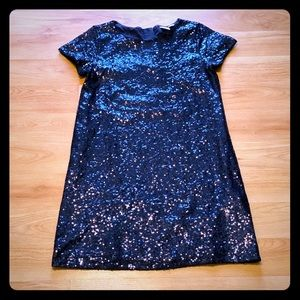 Gap kids navy sequins dress Size 12(XL)